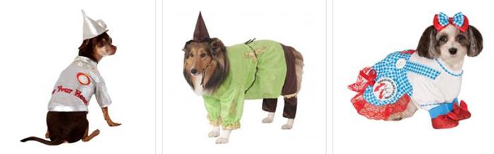 Wizard of Oz pet costumes at BaxterBoo.com