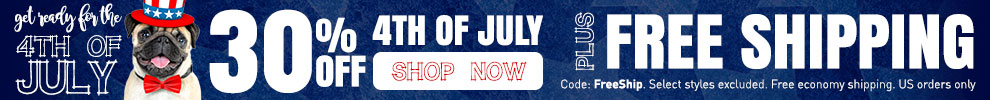 30% Off 4th of July & Free Shipping on all orders!