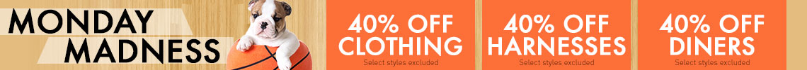 40% Off Clothing, Harnesses, Diners