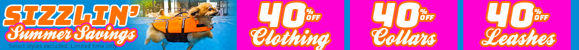 40% Off Clothes, Collars, & Leashes
