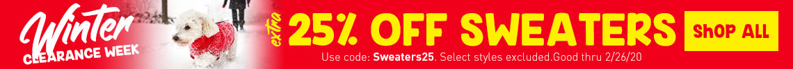 Extra 25% Off Sweaters