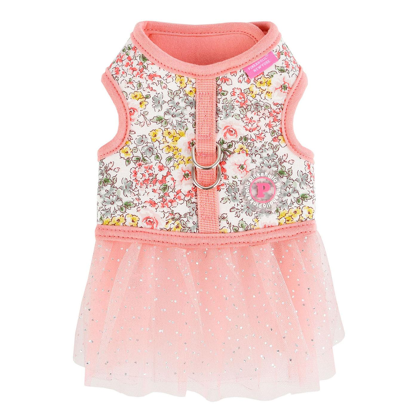 Begonia Flirt Dog Harness Dress by Pinkaholic - Pink