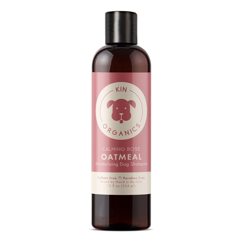 kin+kind kin organics Calming Rose Organic Oatmeal Dog Shampoo