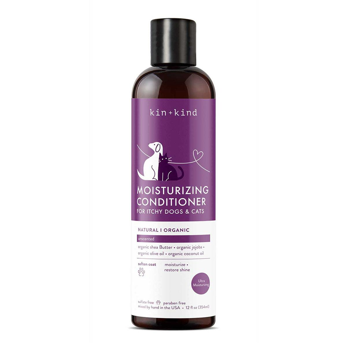 kin+kind Unscented Organic Conditioner For Itchy Dogs & Cats