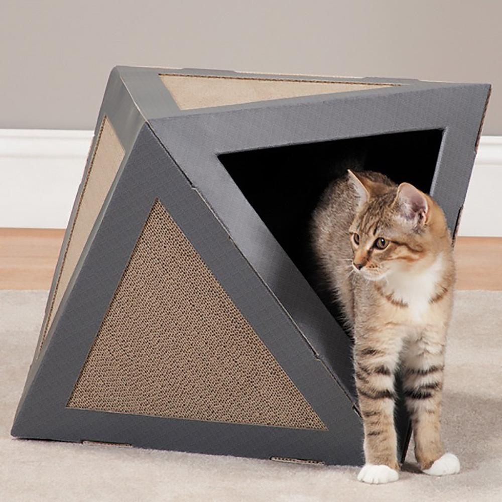 Savvy tabby hexa scratch cat scratcher meteorite gray with same day shipping baxterboo - Cat bed scratcher ...