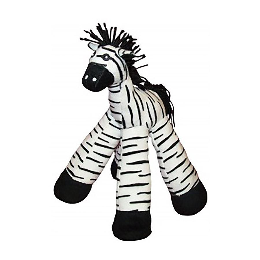 12-inch Long Legs Zebra Plush Dog Toy