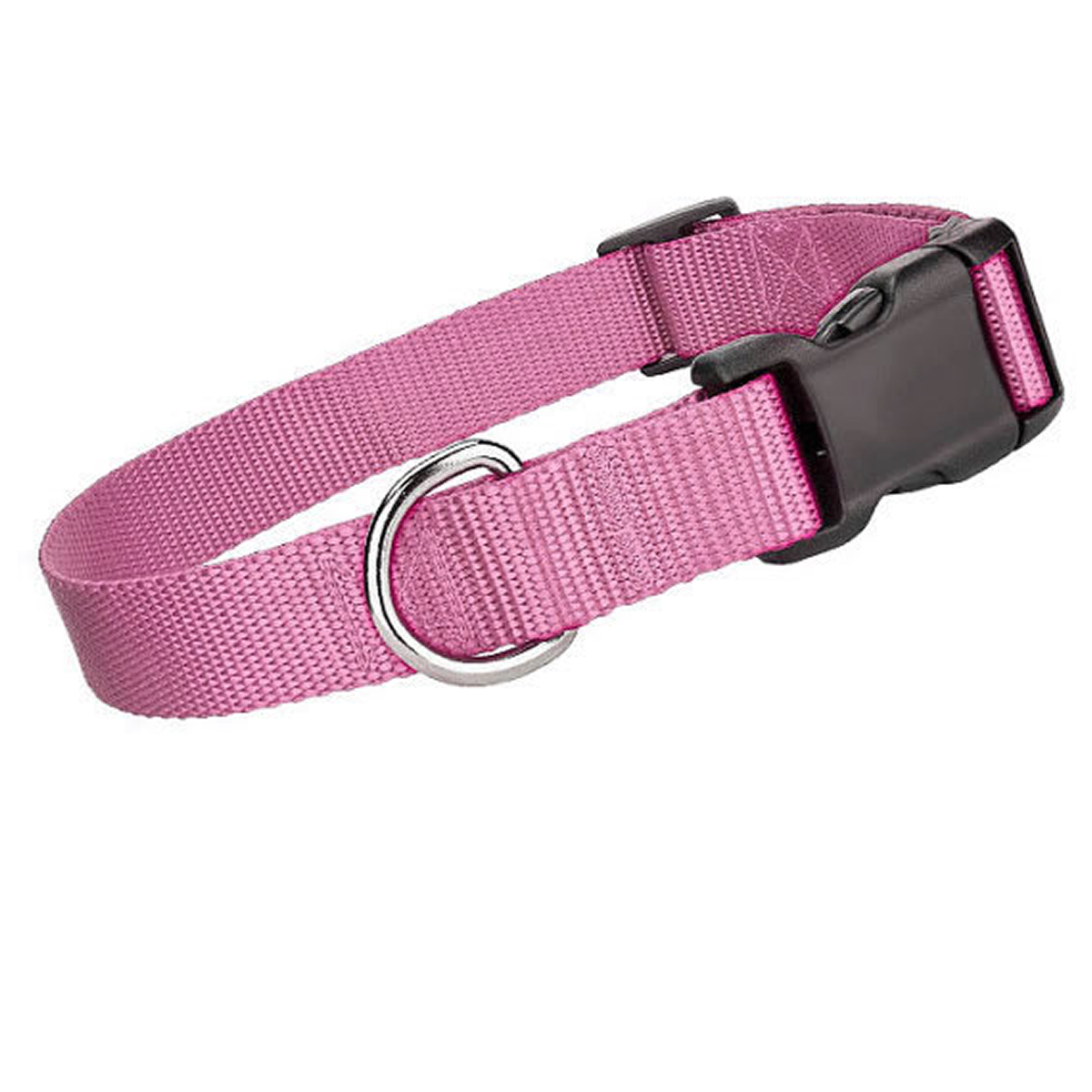Parisian Pet Nylon Dog Collar - Light Pink