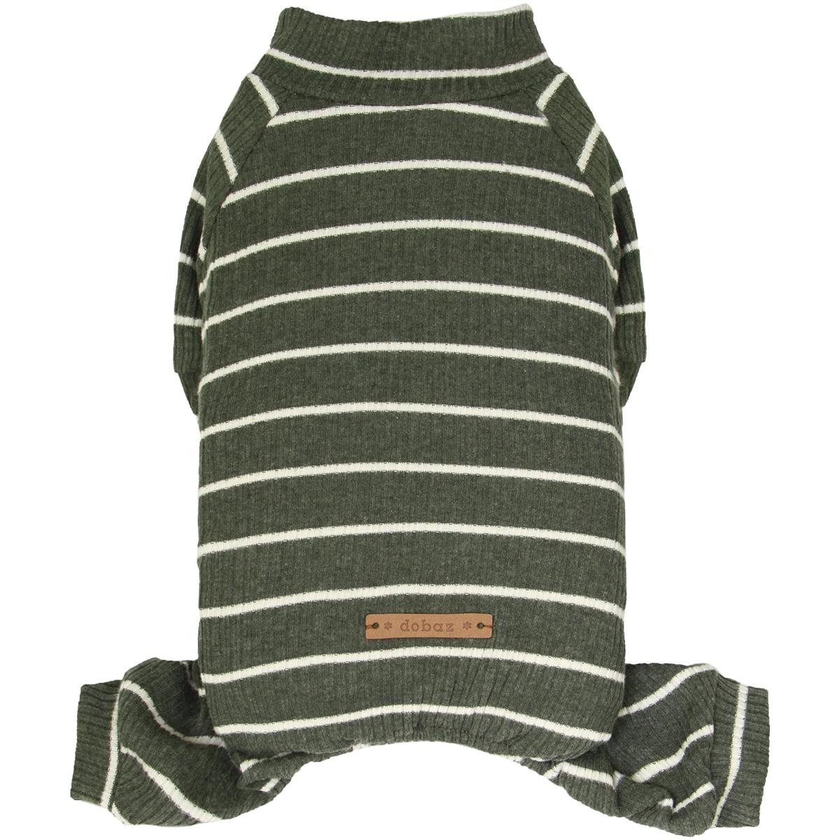 Dobaz Olive Striped Dog Jumpsuit