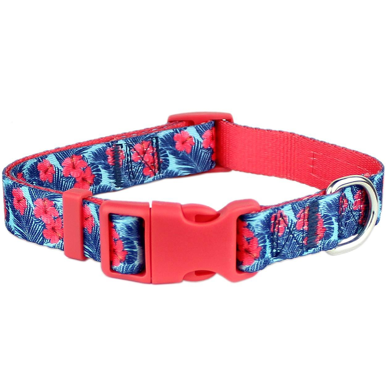 Parisian Pet Hibiscus Pink Dog Collar