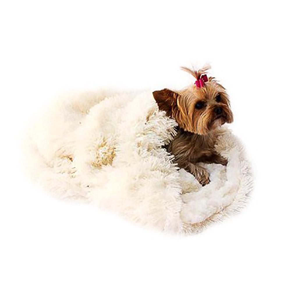 3-in-1 Cozy Dog Cuddle Sack - Ivory Powder Puff