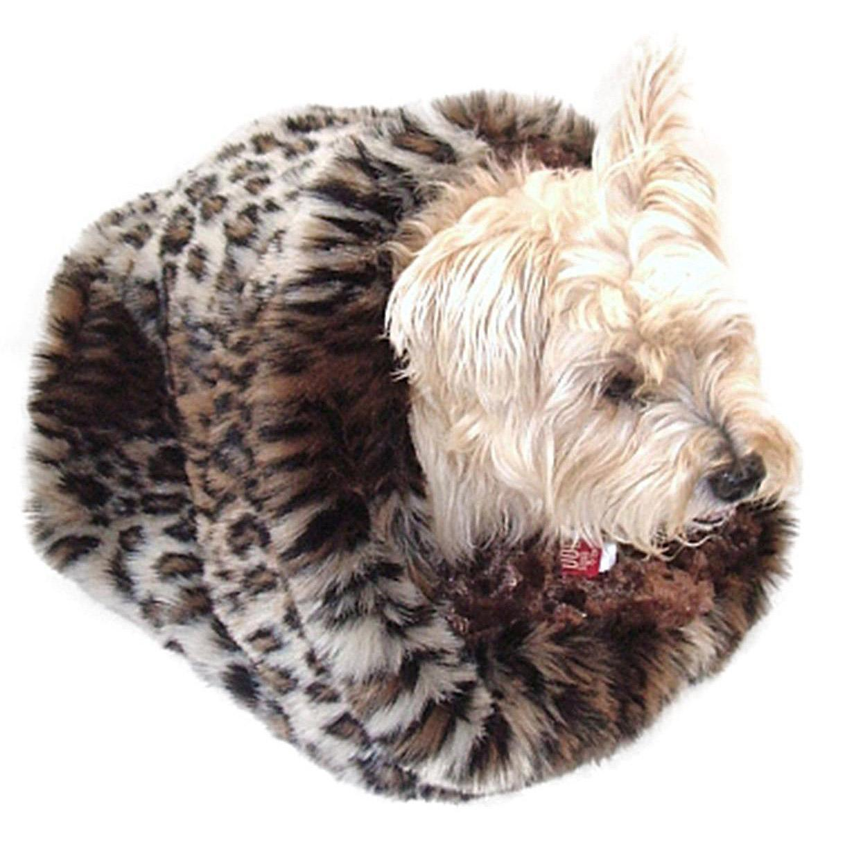 6a6286301955 3-in-1 Cozy Dog Cuddle Sack - Ocelot