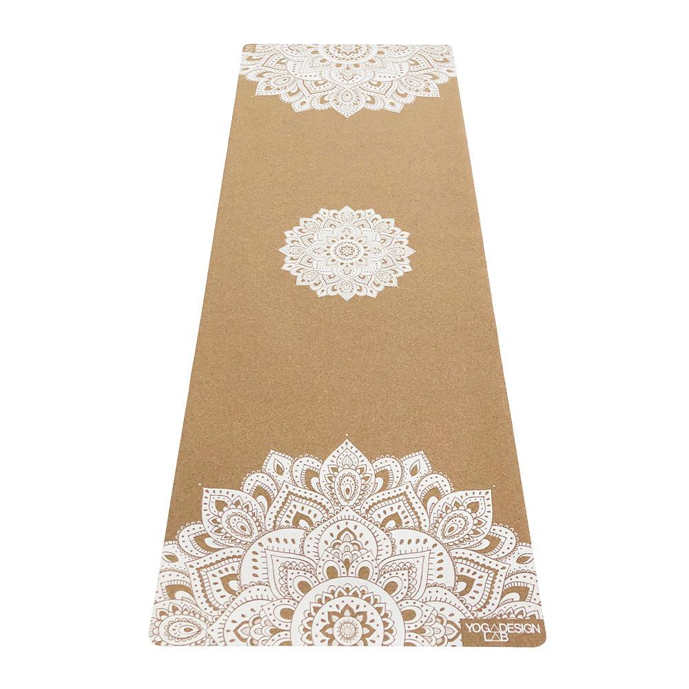 3.5mm Cork Yoga Mat - Mandala White