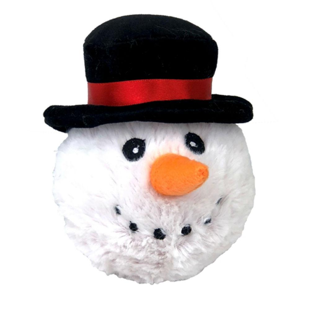 Christmas EZ Snowman Ball Dog Toy