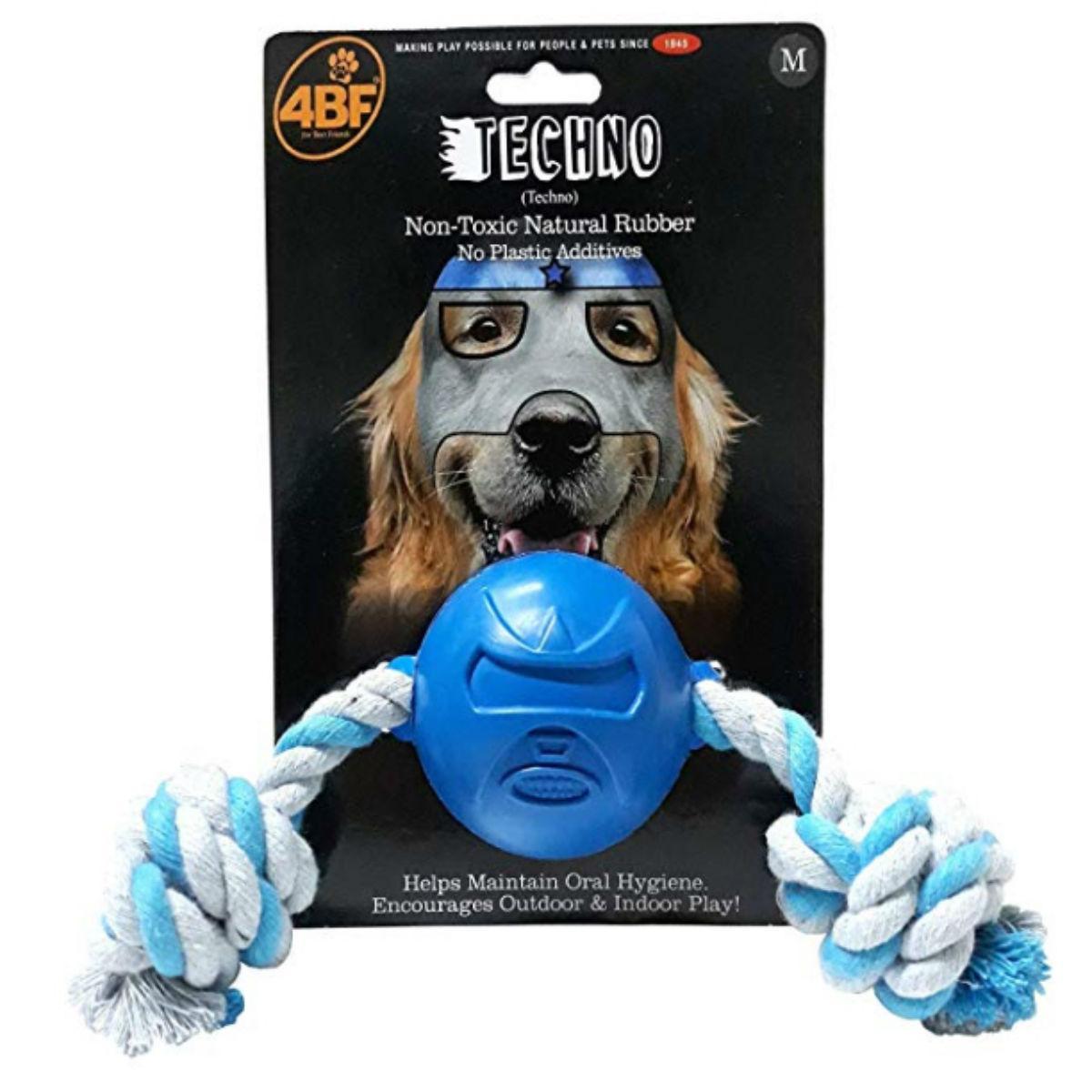 4BF Lucha Libre Mask Dog Toy - Techno