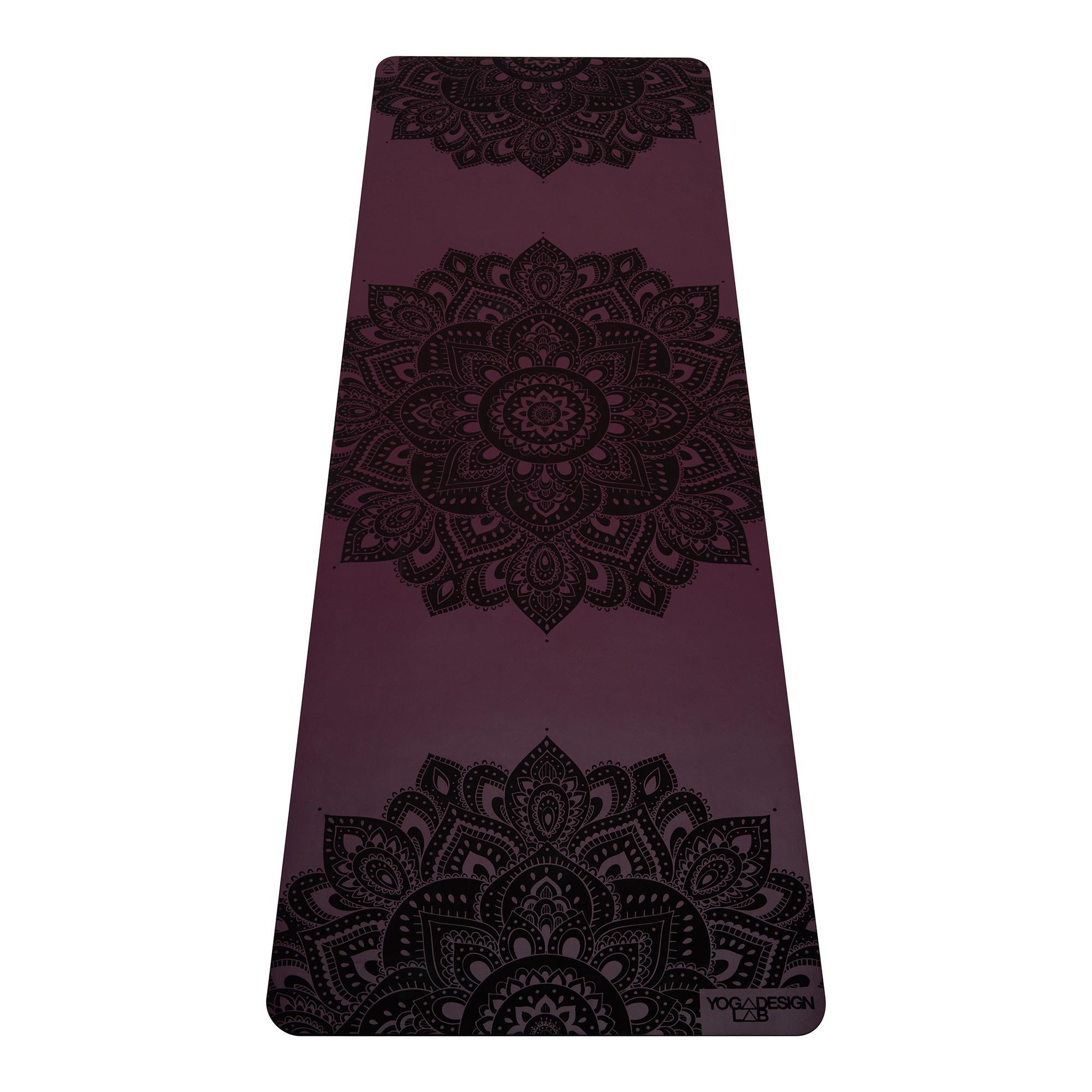 5.0mm Infinity Yoga Mat - Mandala Burgundy