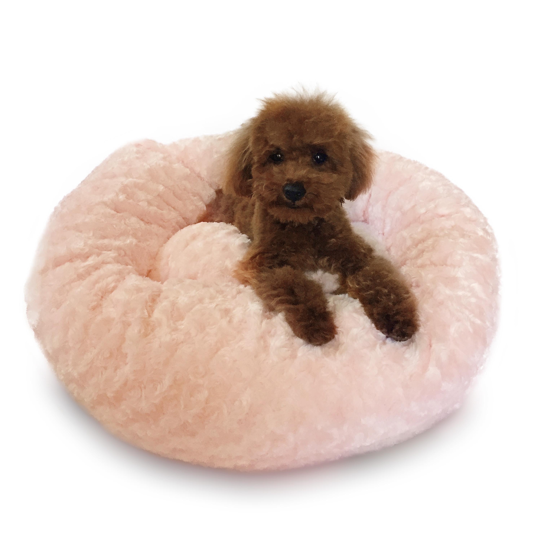 Crispy Creme Donut Dog Bed by The Dog Squad - Pink Rosebud