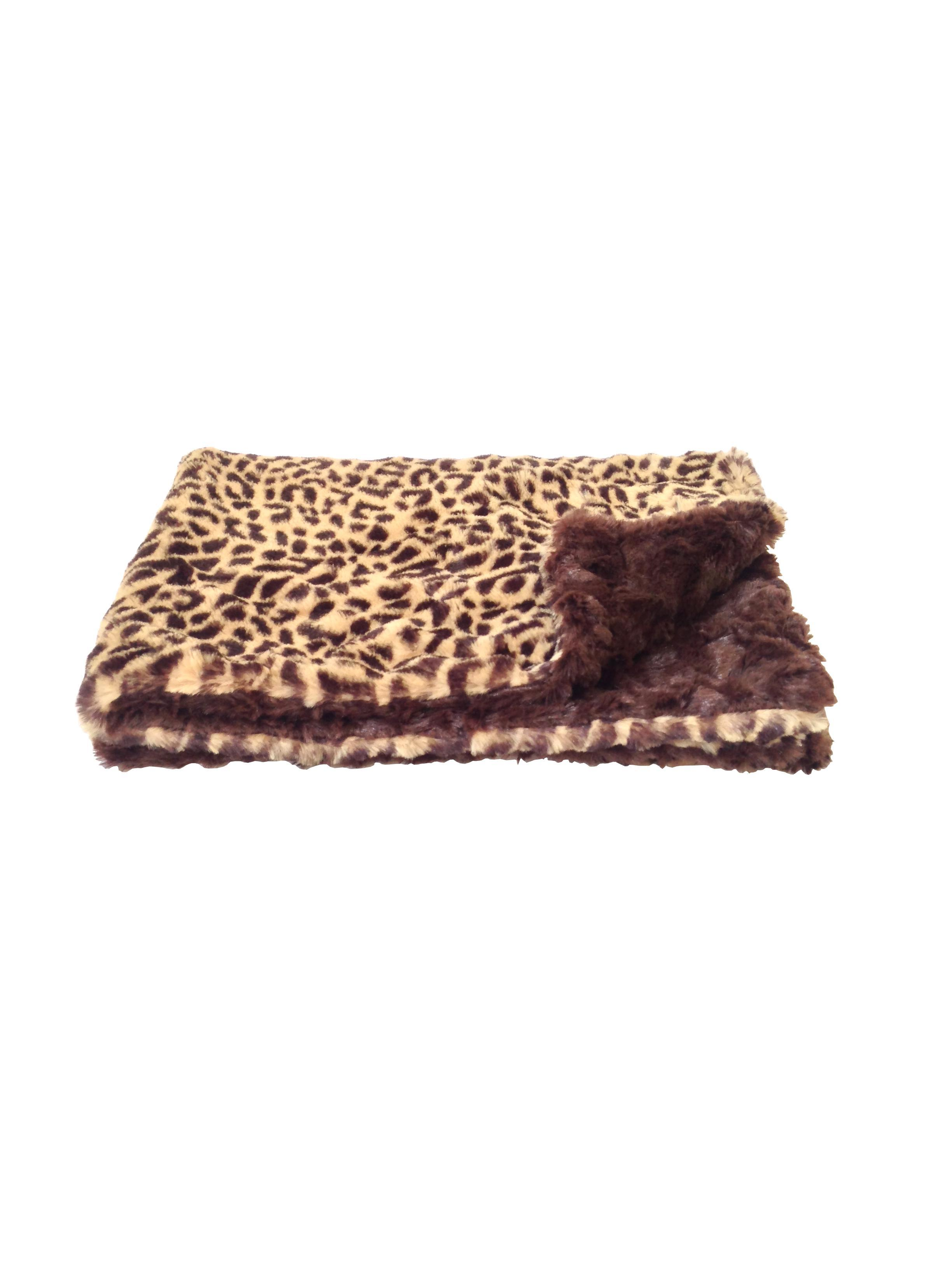 Faux Fur Dog Blanket by The Dog Squad - Cheetah