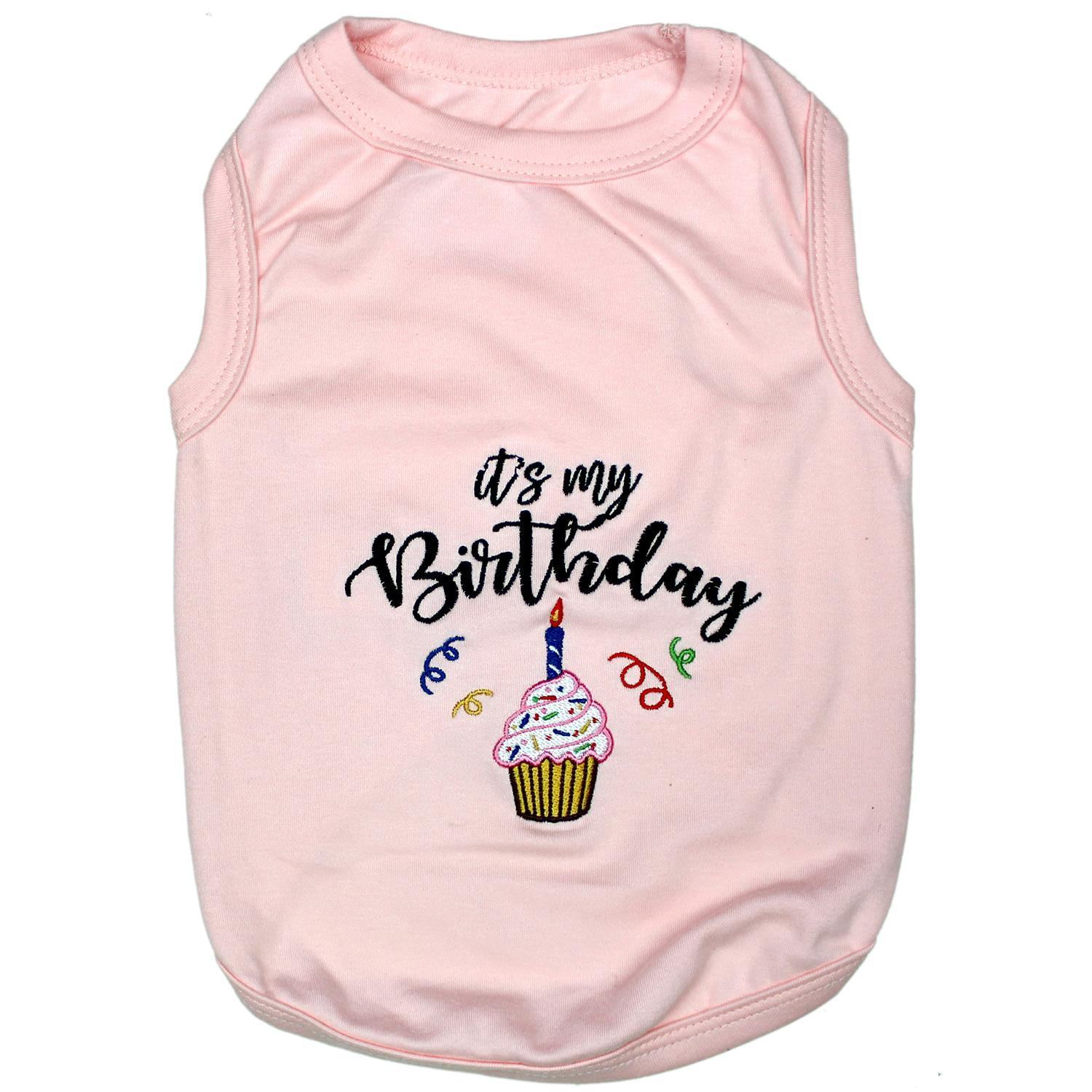 Birthday Girl Dog Tank by Parisian Pet - Pink