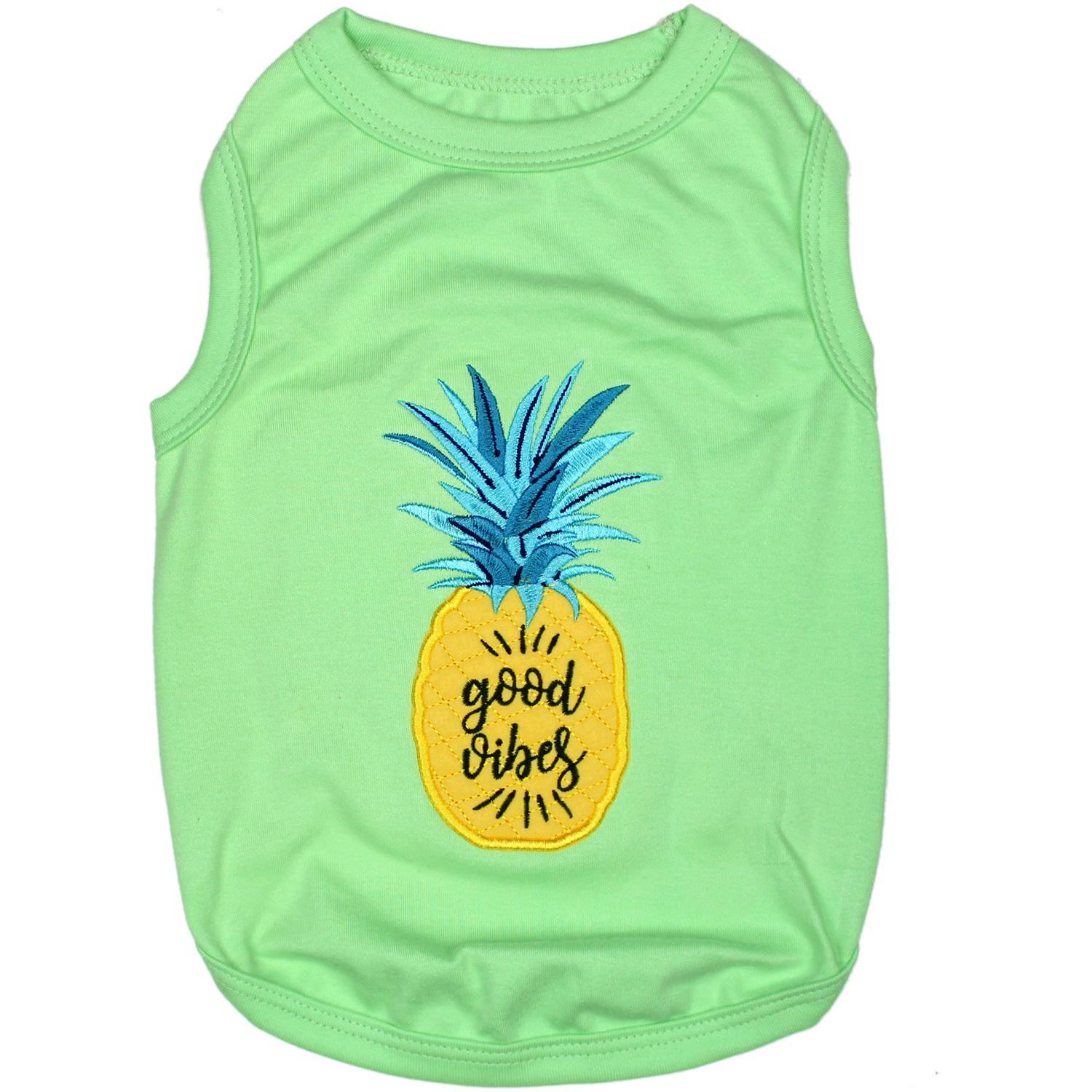 Pineapple Dog Tank by Parisian Pet - Green