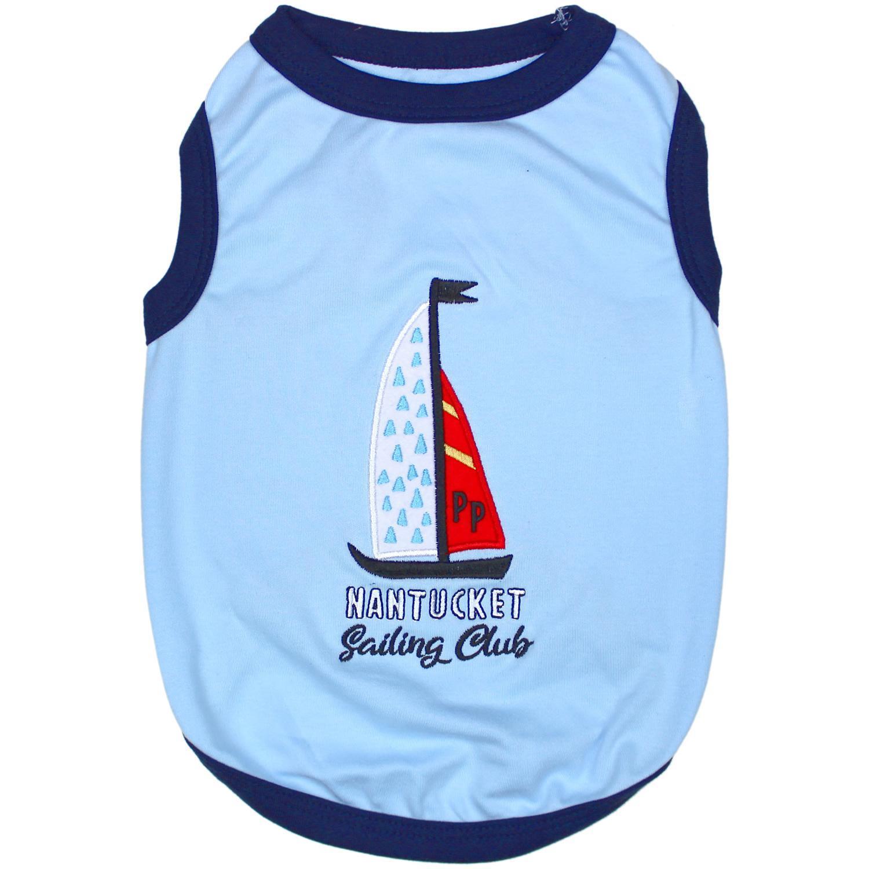 Sailing Club Dog Tank by Parisian Pet - Blue