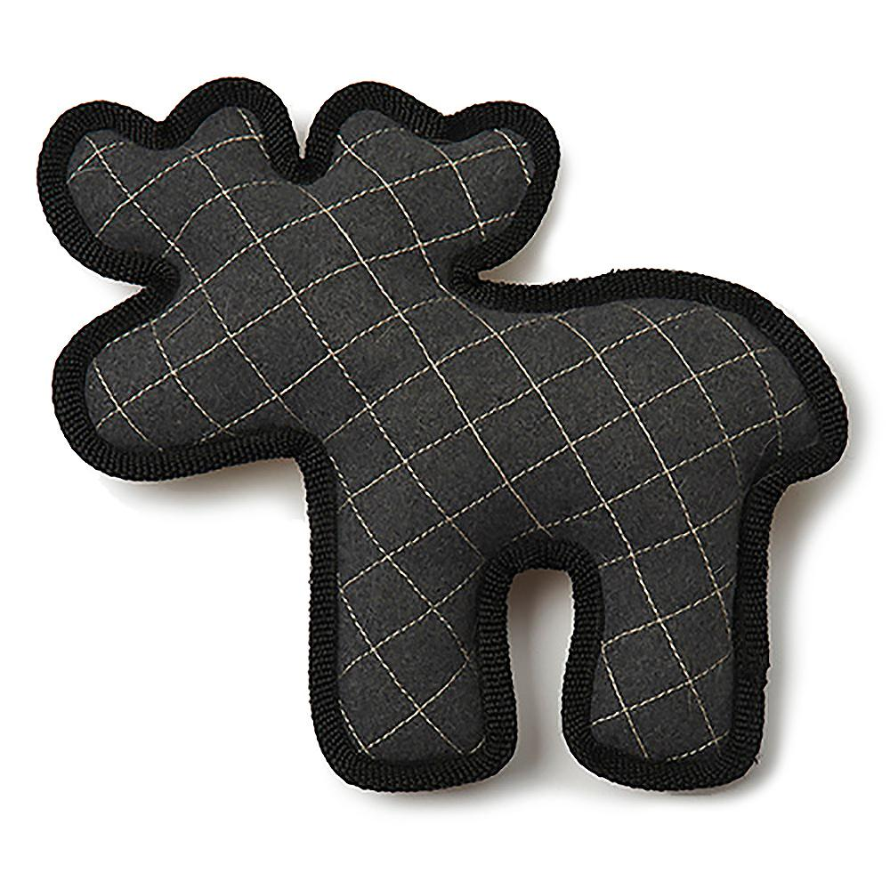 Acadia Felt & Sherpa Moose Dog Toy - Gray