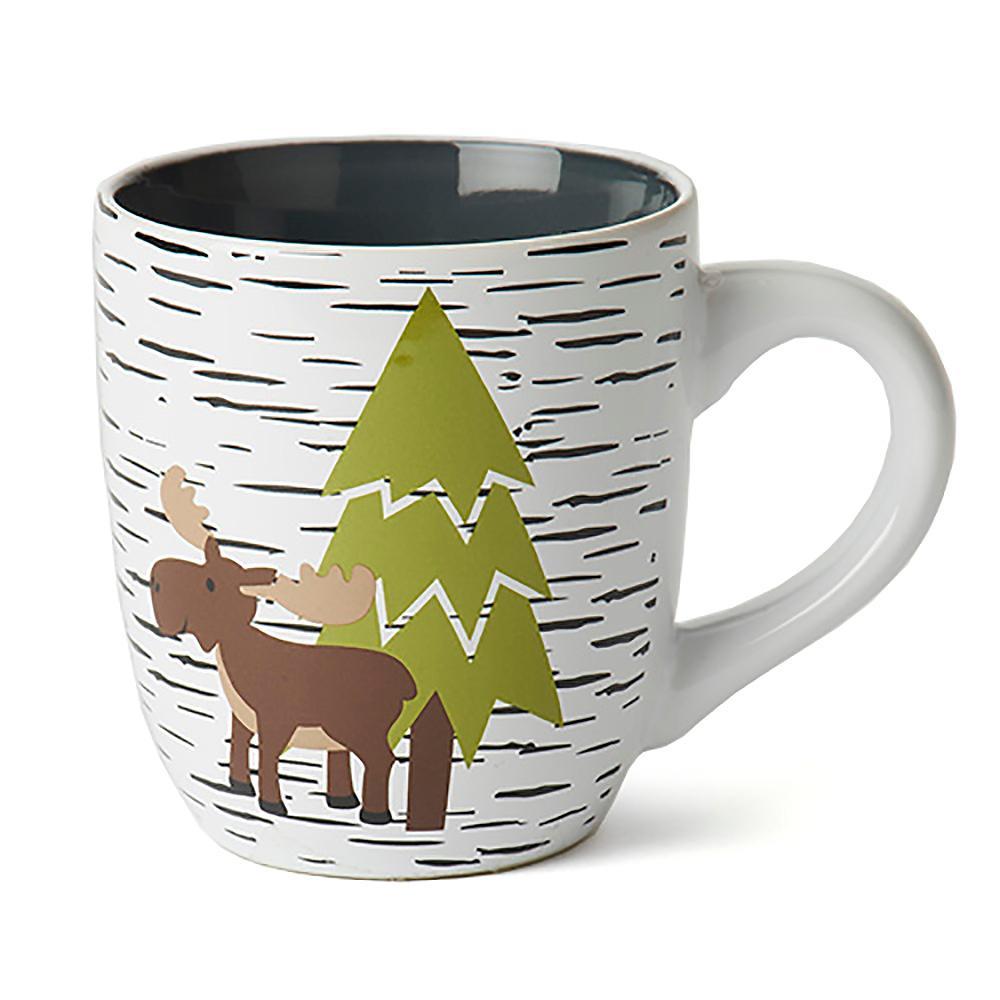 Acadia Moose & Bear Mug - White/Gray