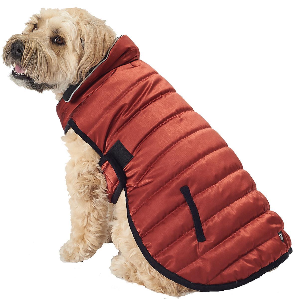 Acadia Puffer Dog Coat - Copper