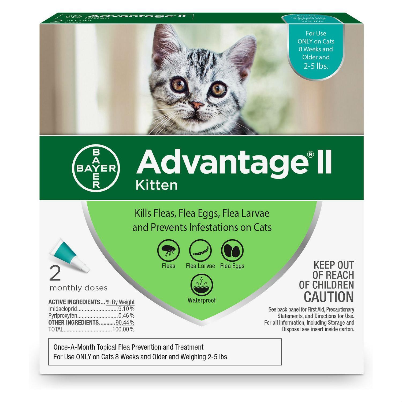Advantage II Flea Control Cat Treatment - 2 Month Supply