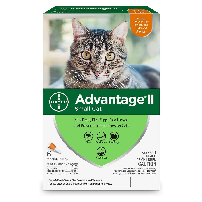 Advantage II Flea Control Cat Treatment - 6 Month Supply