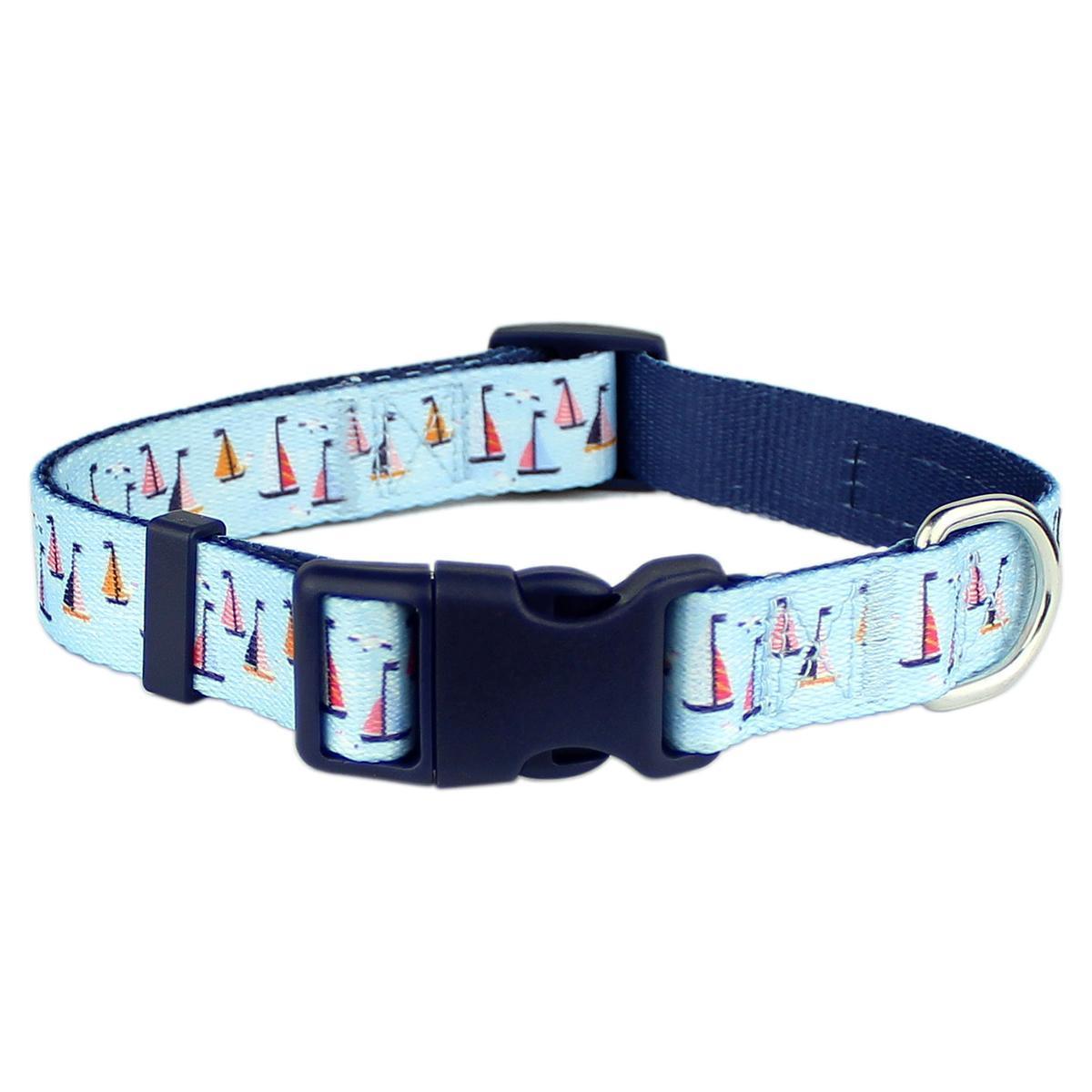 Parisian Pet Sail Boats Dog Collar