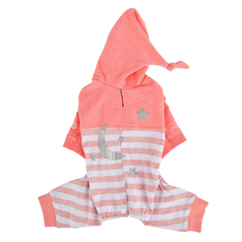 Aerglo Hooded Dog Jumpsuit by Pinkaholic - Melange Pink