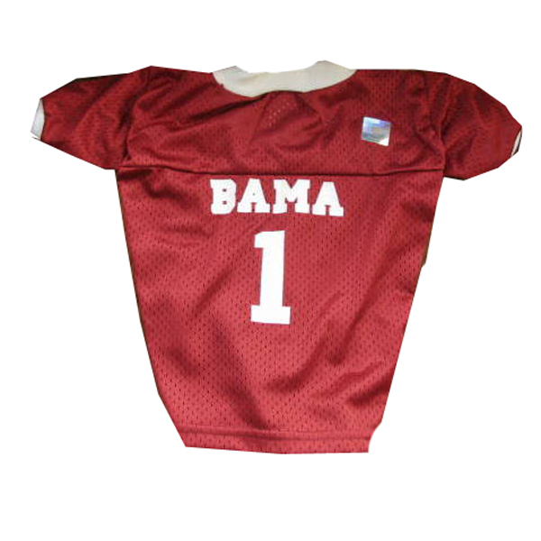 Alabama Crimson Tide Dog Jersey - Crimson