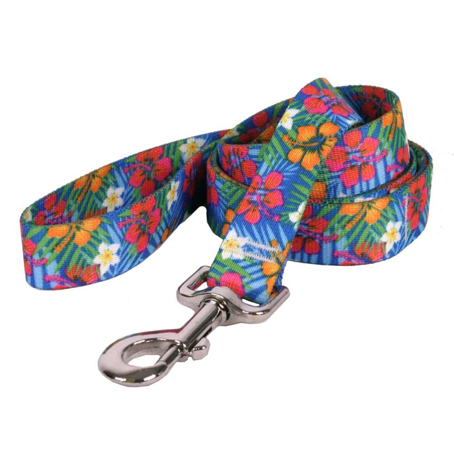 Hibiscus Paradise Dog Leash by Yellow Dog