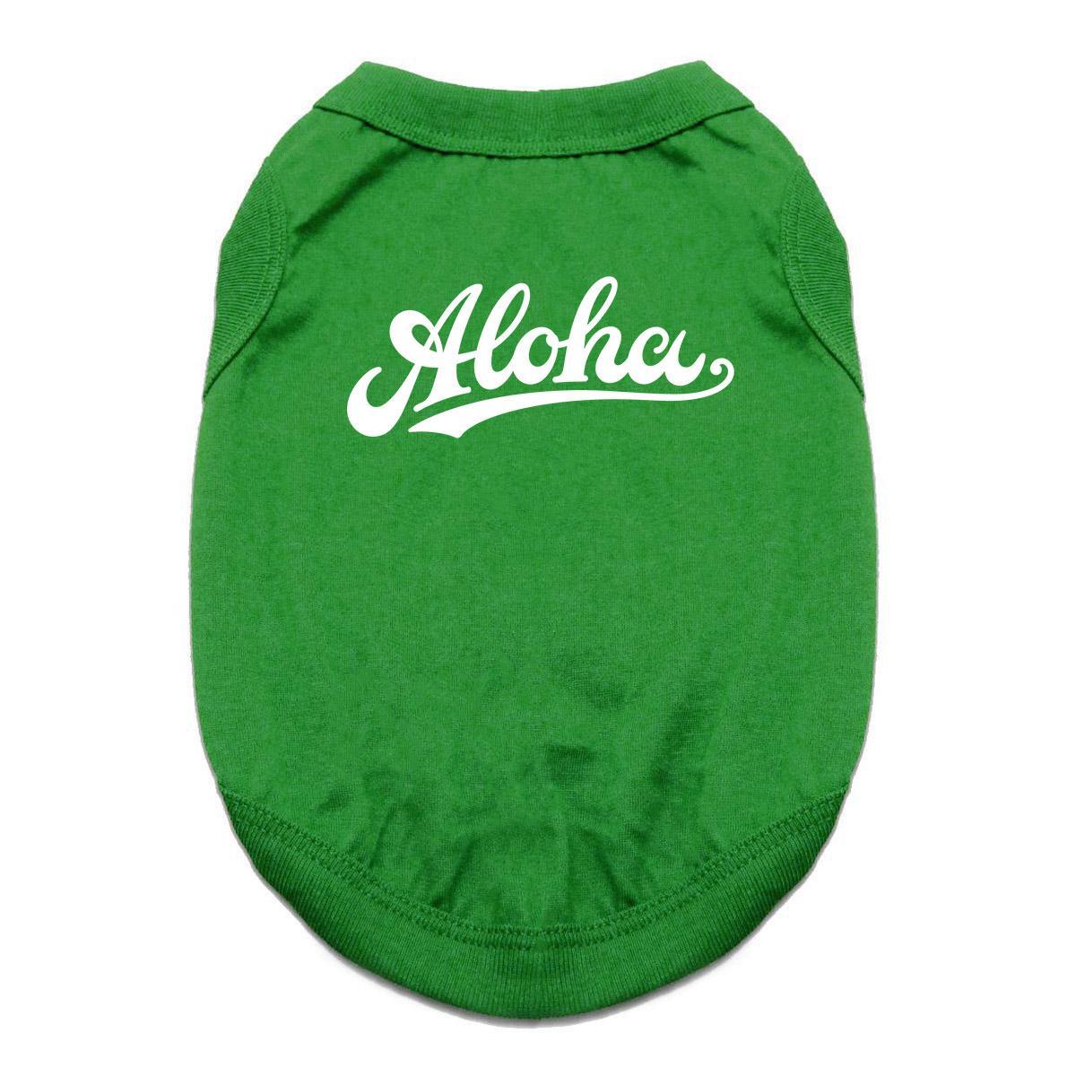 Aloha Dog Shirt - Green