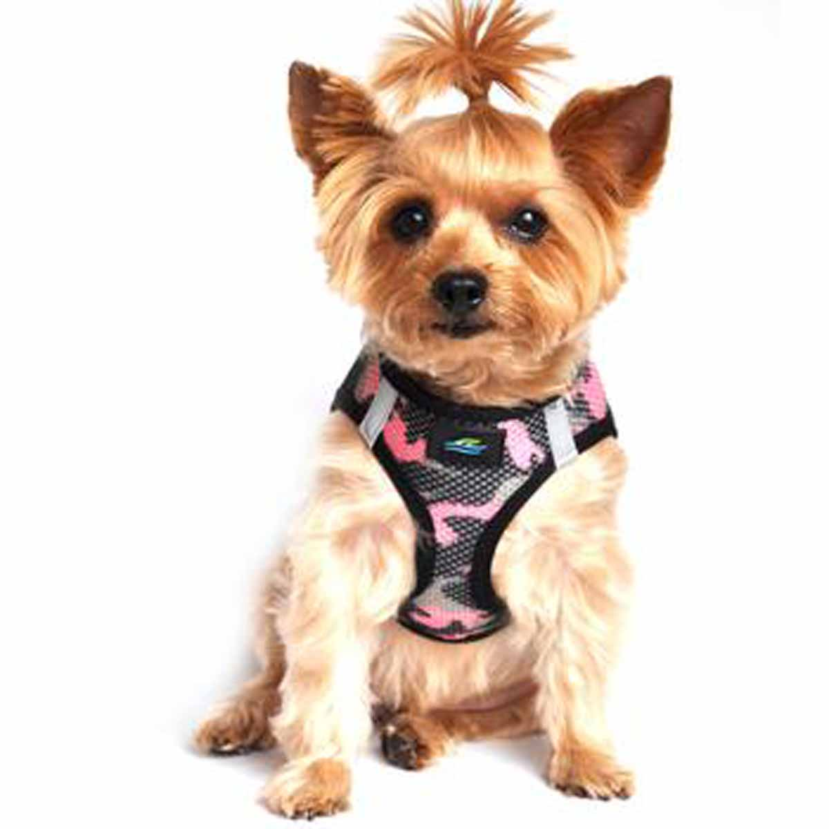 American River Camo Choke Free Dog Harness by Doggie Design - Pink