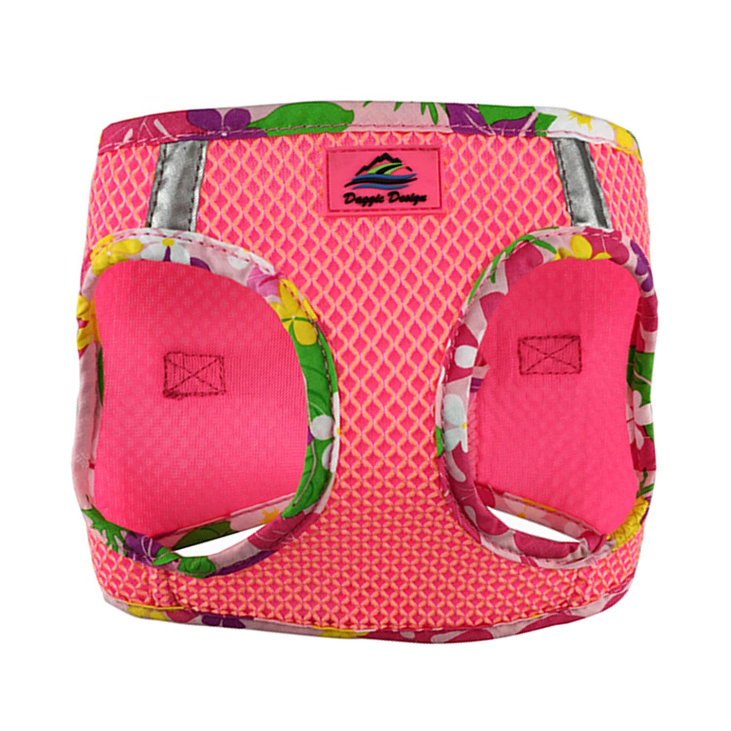 American River Hawaiian Trim Choke-Free Dog Harness by Doggie Design - Candy Pink