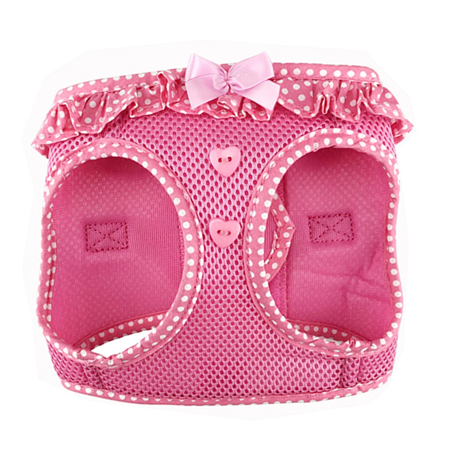 American River Choke-Free Dog Harness by Doggie Design - Pink Polka Dot