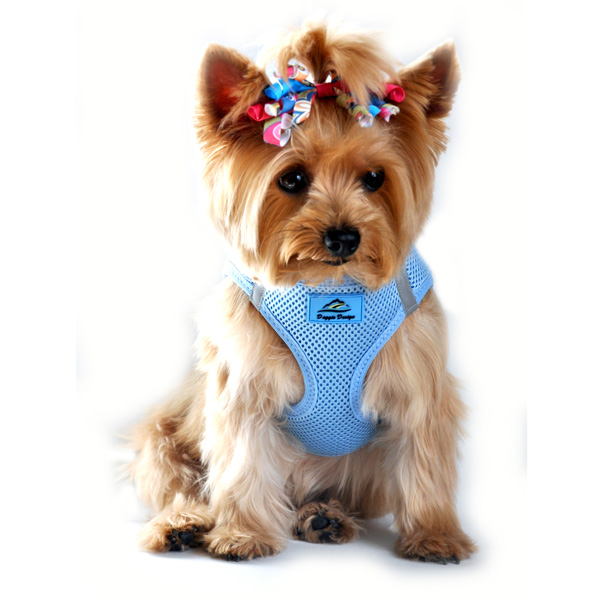 American River Ultra Choke-Free Mesh Dog Harness by Doggie Design - Light Blue
