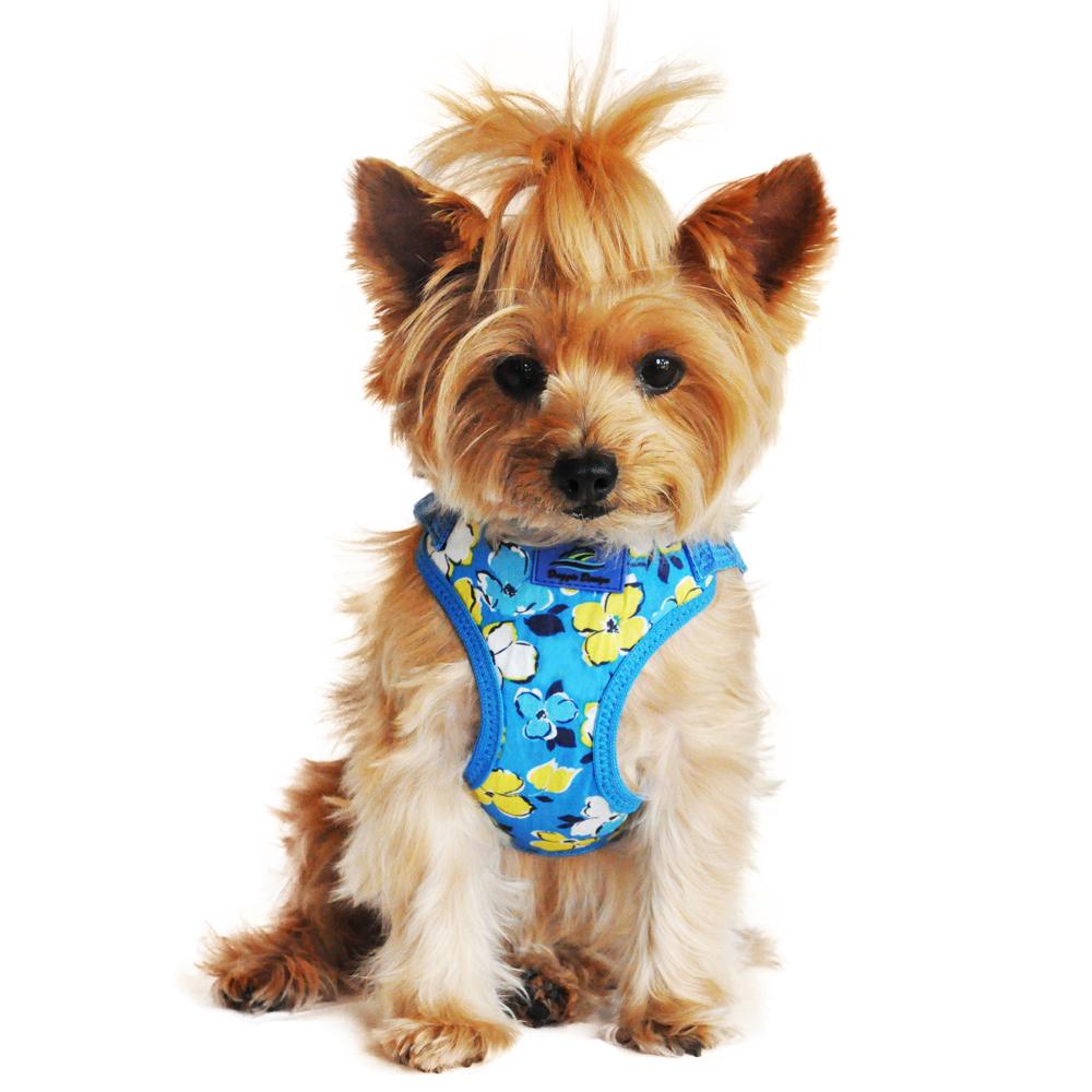 Wrap and Snap Choke Free Dog Harness by Doggie Design - Hawaiian Blue