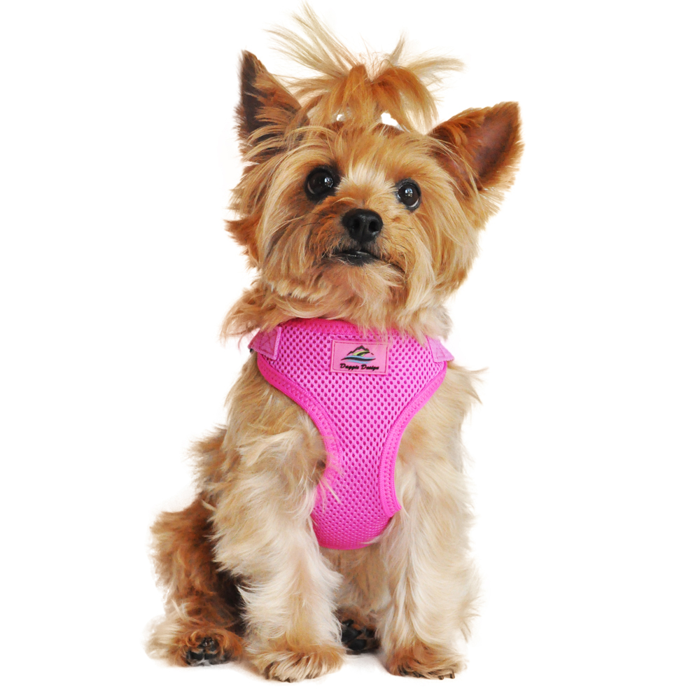 Wrap and Snap Choke Free Dog Harness by Doggie Design - Raspberry Pink