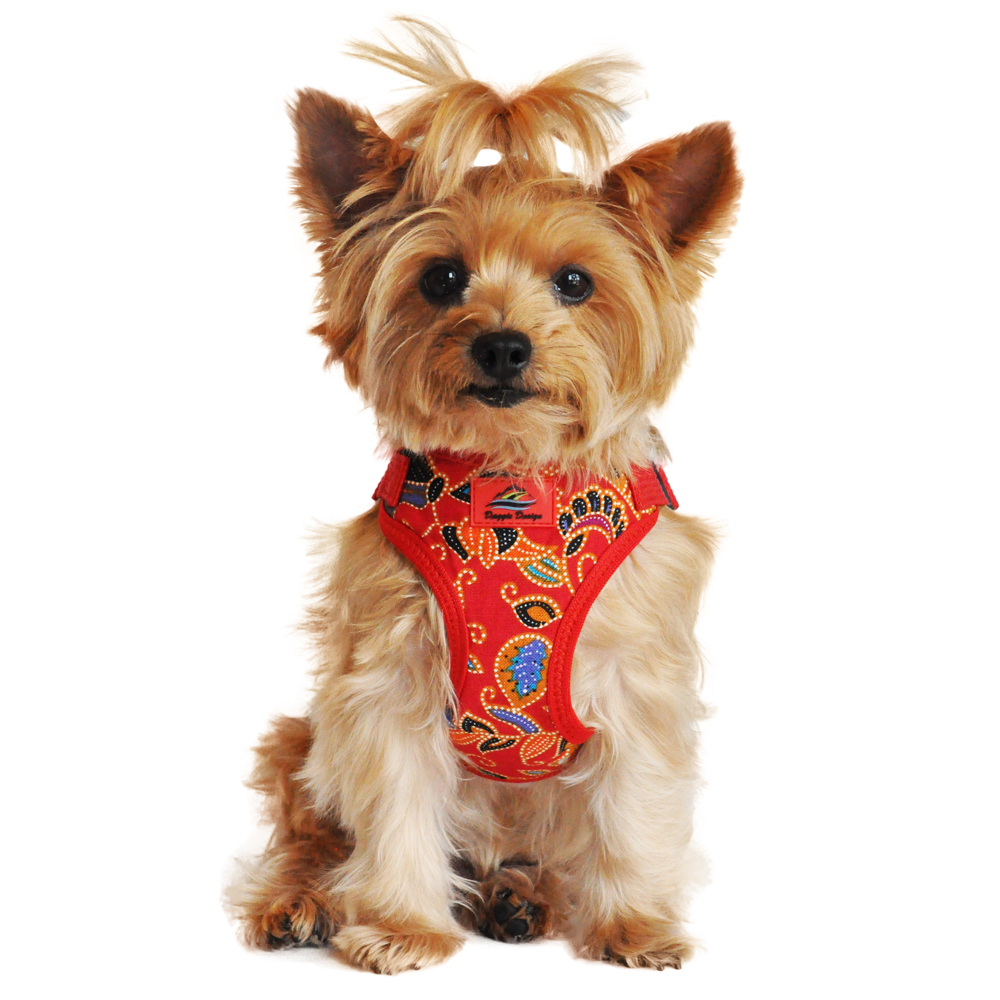 Wrap and Snap Choke Free Dog Harness by Doggie Design - Tahiti Red