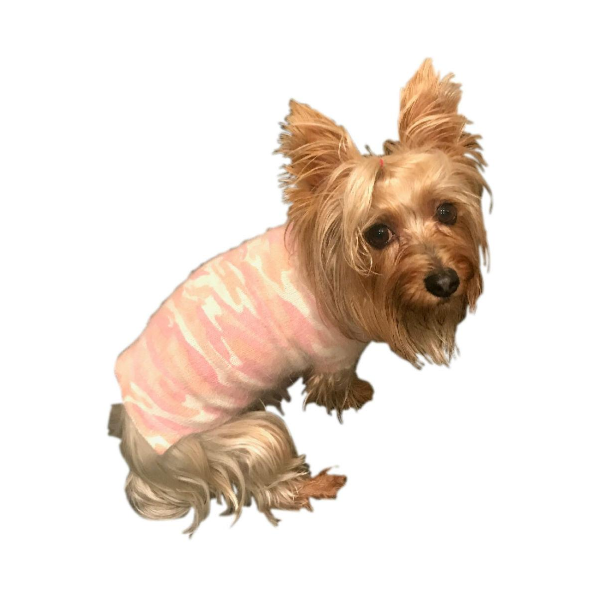 The Dog Squad Camouflage Mockneck Dog Sweater - Blush