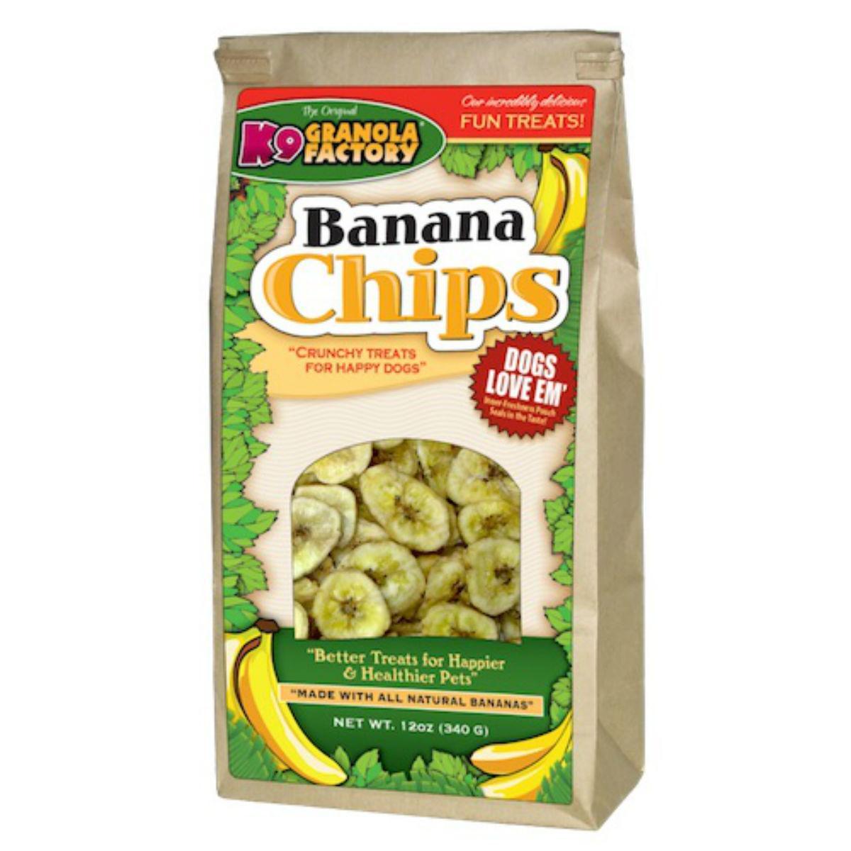 K9 Granola Factory Banana Chips Dog Treat by K9 Granola Factory