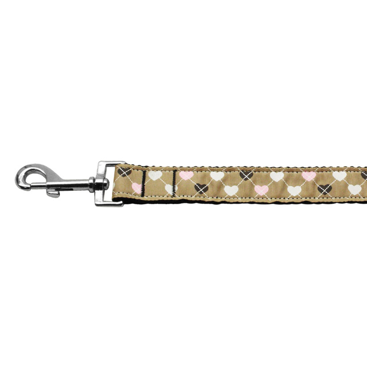 Argyle Hearts Dog Leash - Tan
