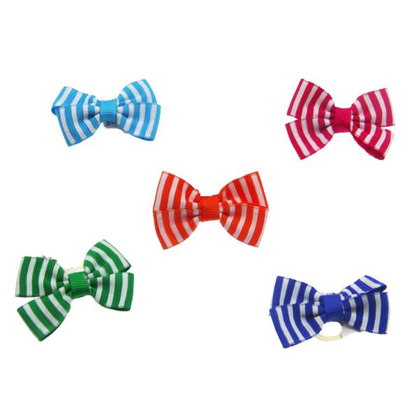 Aria Candy Stripe Dog Bows
