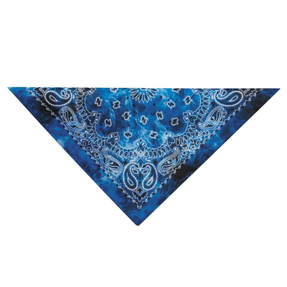 Aria Classic Tie Dye Dog Bandana - Blue