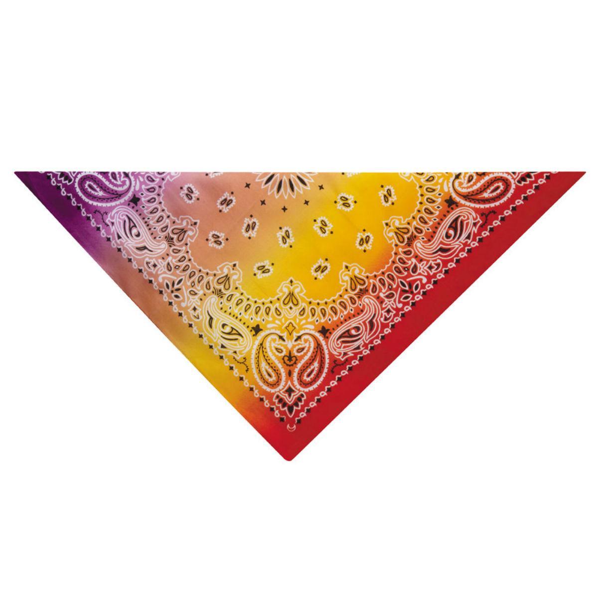 Aria Classic Paisley Dog Bandana - Purple/Red