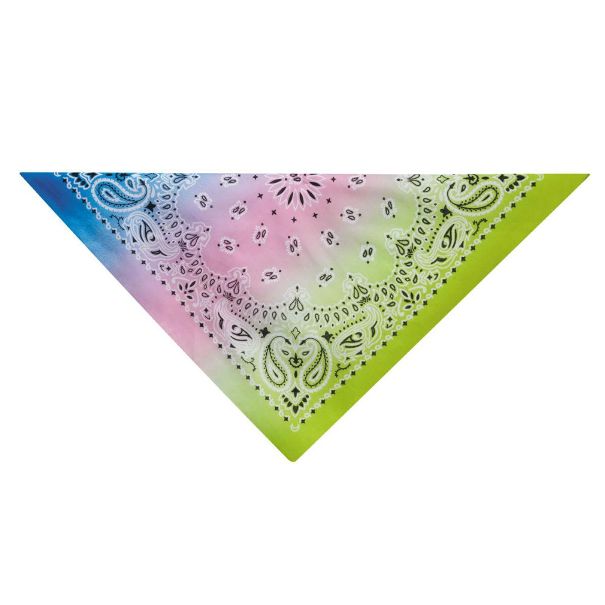 Aria Classic Paisley Dog Bandana - Light Green/Blue
