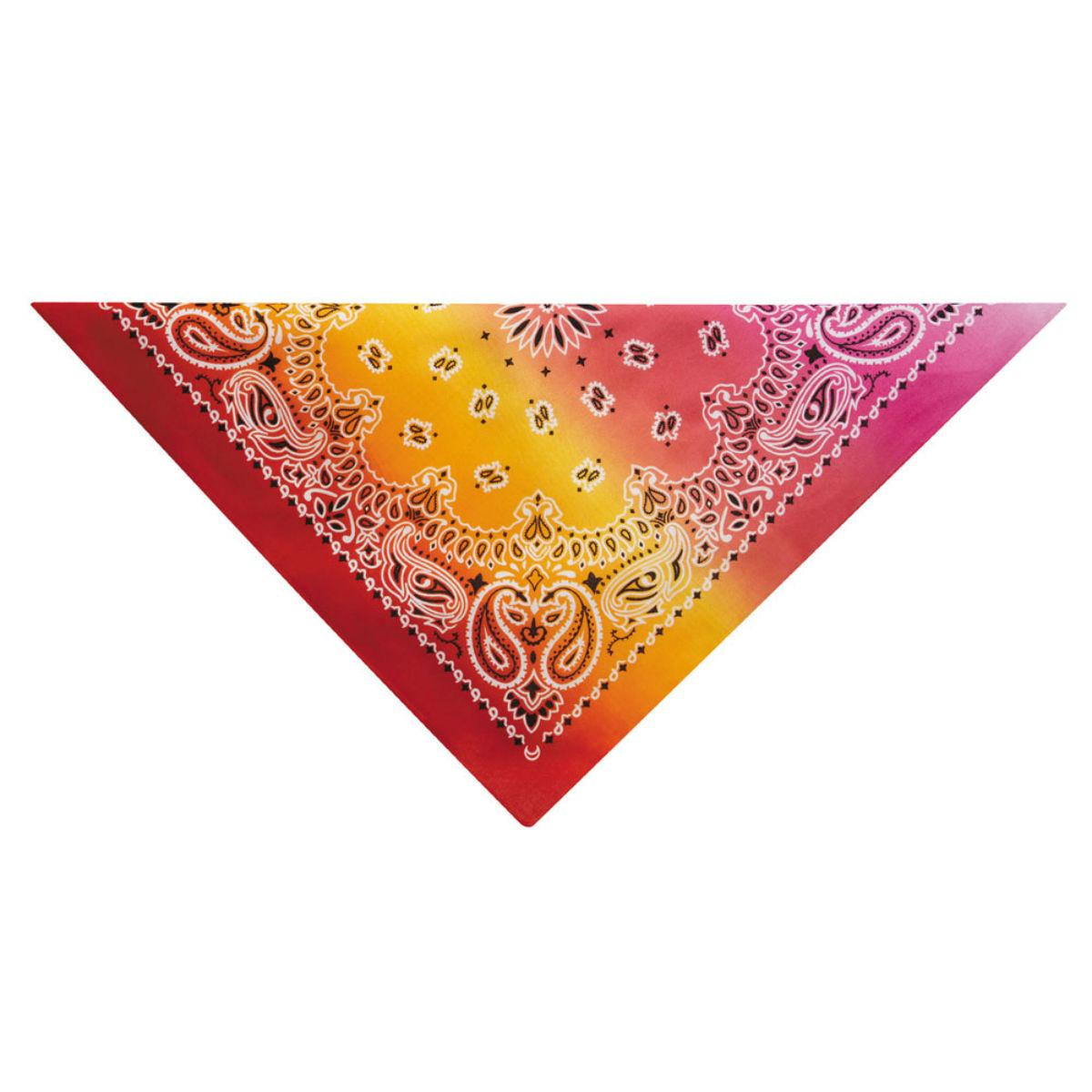 Aria Classic Paisley Dog Bandana - Orange/Pink