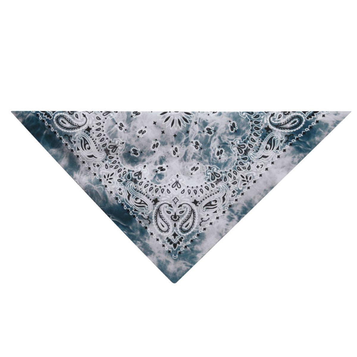 Aria Classic Tie Dye Dog Bandana - Gray